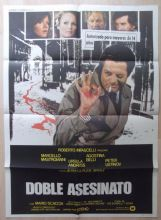 Double Murder, Spanish Movie Poster, Marcel Mastroianni, Ursula Andress '77